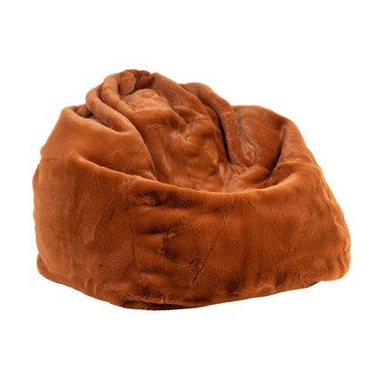 Kaia Faux Fur Bean Bag Cover - Tobacco