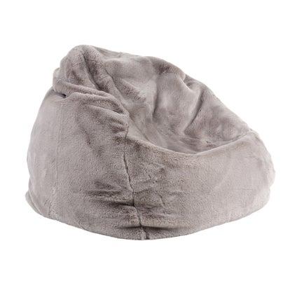 Kaia Faux Fur Bean Bag Cover - Grey