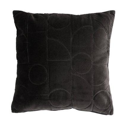 Geometra Velvet Cushion - Black 45x45cm