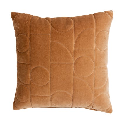 Geometra Velvet Cushion - Caramel 45x45cm