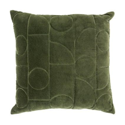 Geometra Velvet Cushion 45x45 - Olive