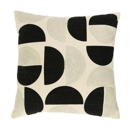 Halves Cushion 50x50 - Off White Black
