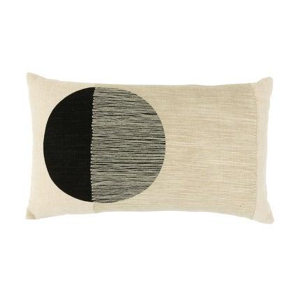 Veiled Circle Cushion 30x50 - Off White