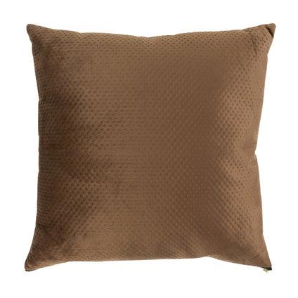 Pip Zip Velvet Cushion - Brown 50x50cm