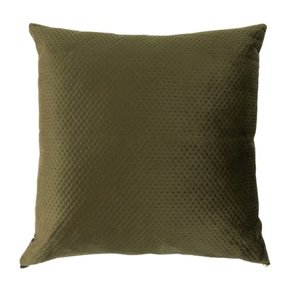 Pip Zip Velvet Cushion - Khaki 50x50cm