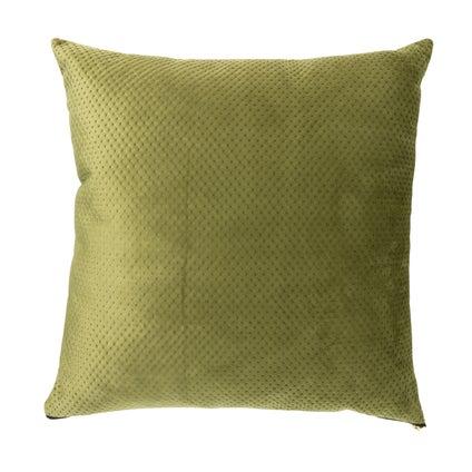 Pip Zip Velvet Cushion - Olive 50x50cm