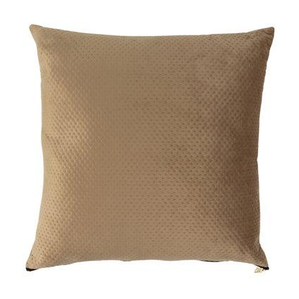Pip Zip Velvet Cushion - Taupe 50x50cm