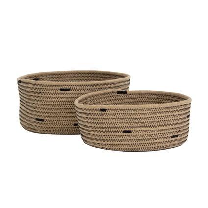 Connie Basket Set 2pc - Natural/Black