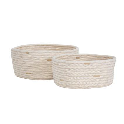 Connie Basket Set 2pc - White/Natural