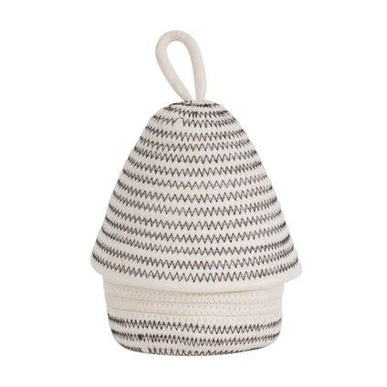 Milo Basket With Lid - White/Black