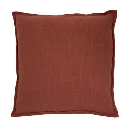 Anya Linen Look Cushion - Rust
