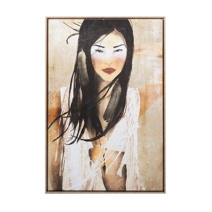 Boho Girl Framed Canvas