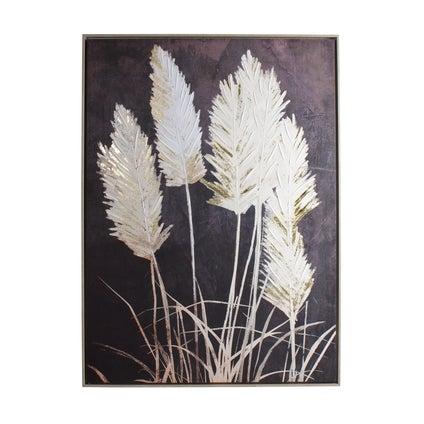 Pampas Grass Framed Canvas
