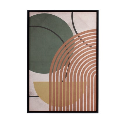 Arched Lines Framed Canvas