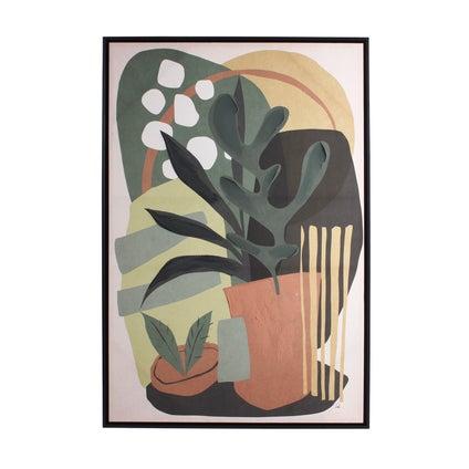 Vintage Pot with Plant Framed Canvas